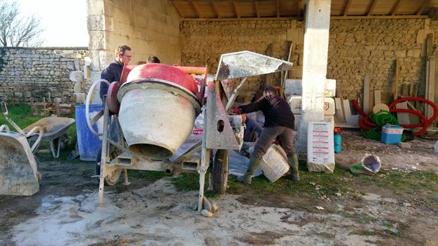 Bétonnière pour chantier chaux et chanvre